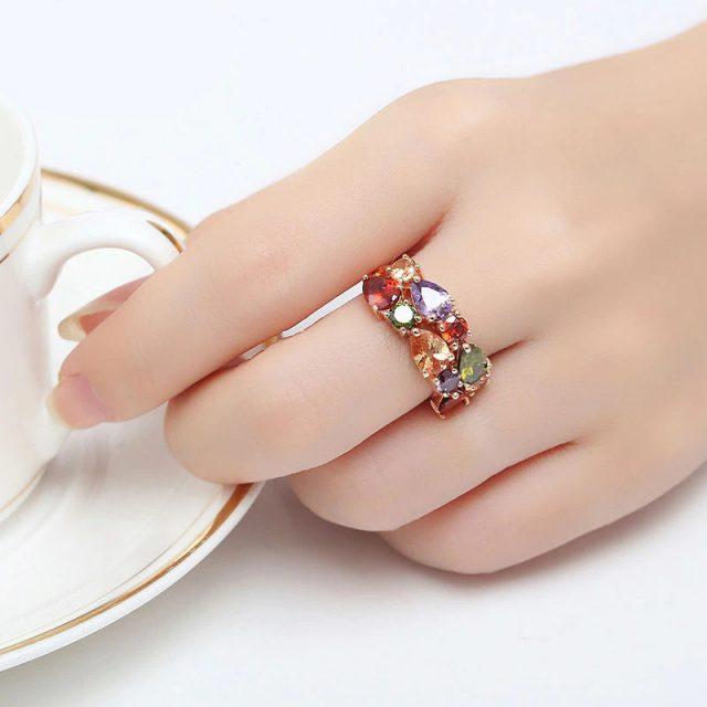 Rose Gold Color Mona Lisa Ring