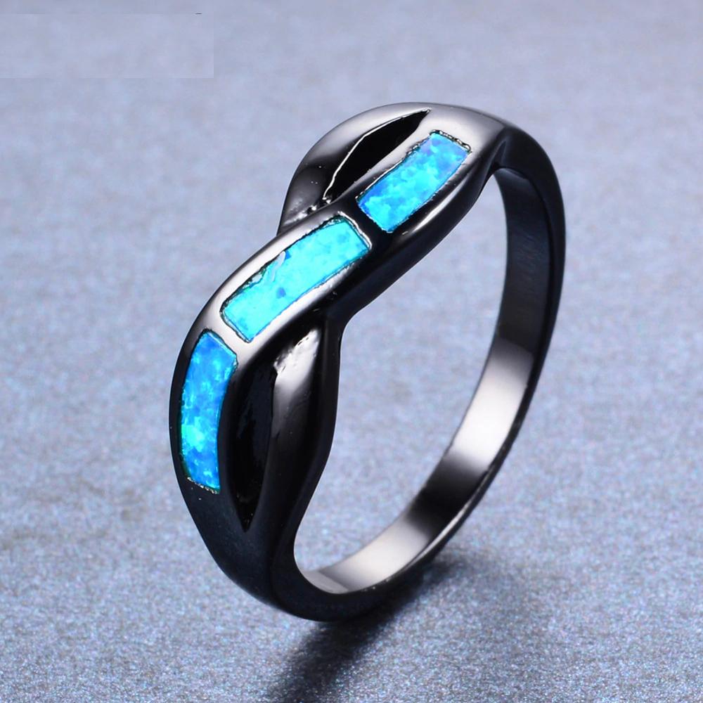 Ocean Blue Fire Opal Ring