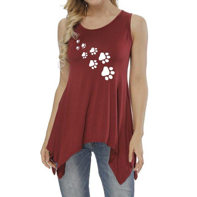 Dog Paw Women's Sleeveless T-Shirt