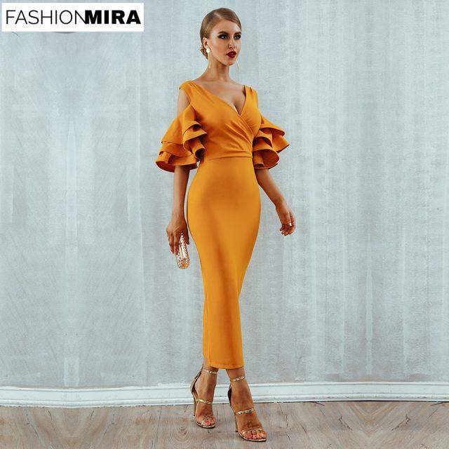 Ruffle Butterfly Short Sleeve Midi Dress