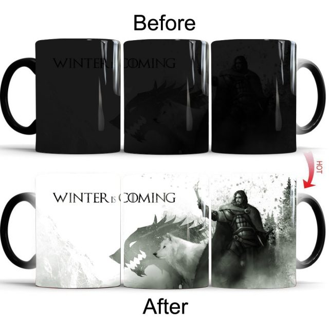 Game of Thrones color changing coffee mug