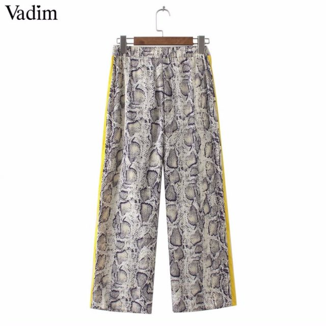 Striped snake skin pattern pants