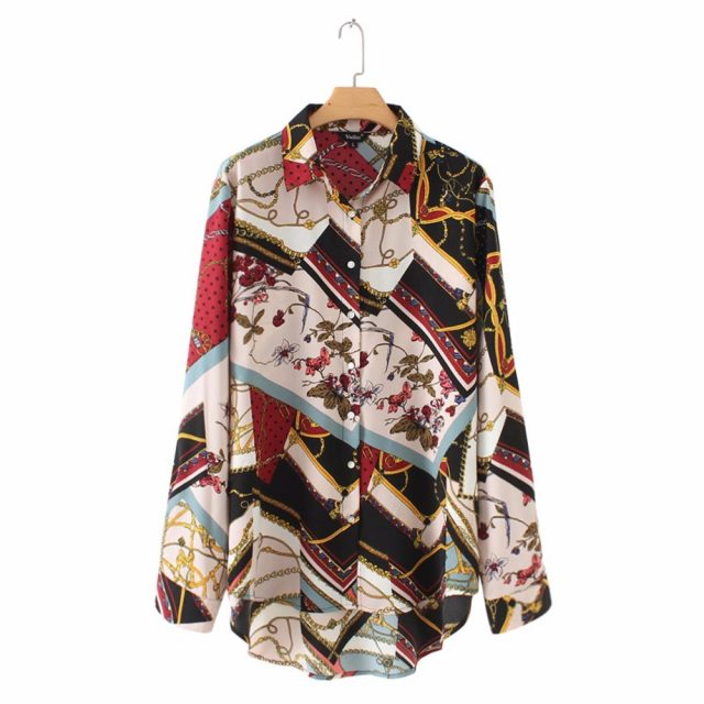 vintage Geometric pattern blouse