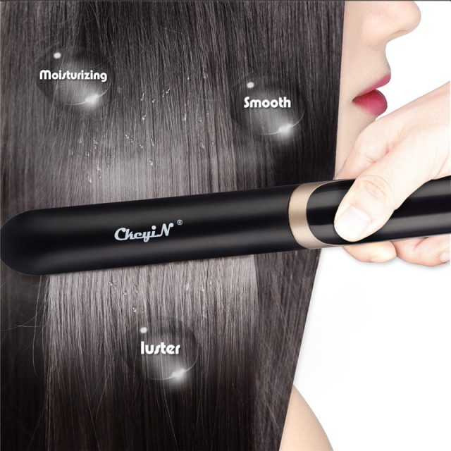 Professional Infrared Hair Straightener with LED Display