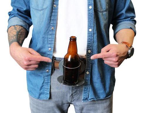 """""""The Beer Buckle"""" Beer Holder Belt Buckle"""