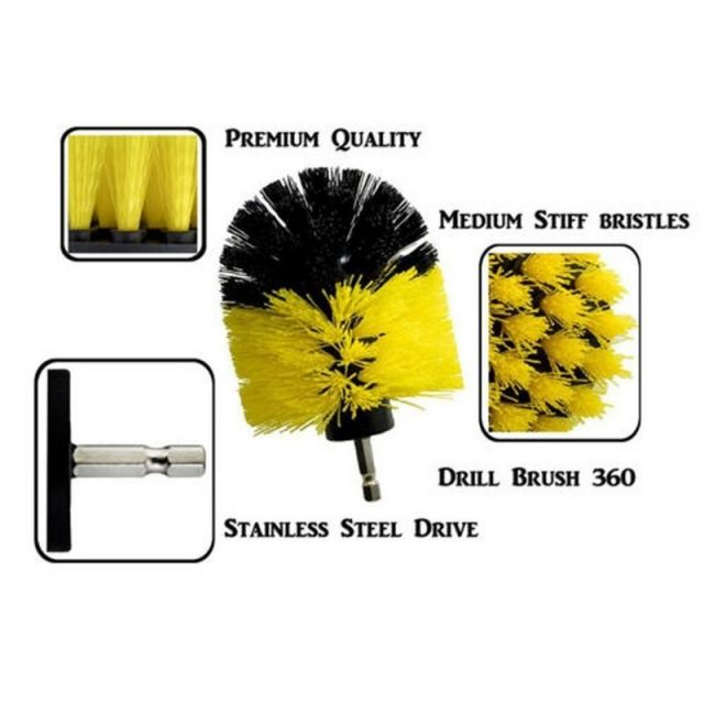 Power Scrubber Drill Brush Kit