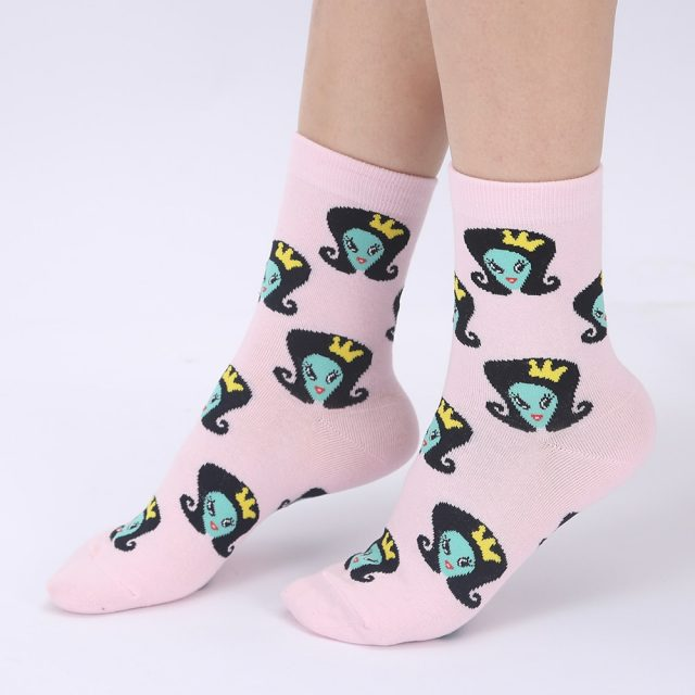Colorful Cartoon Cotton Socks for women