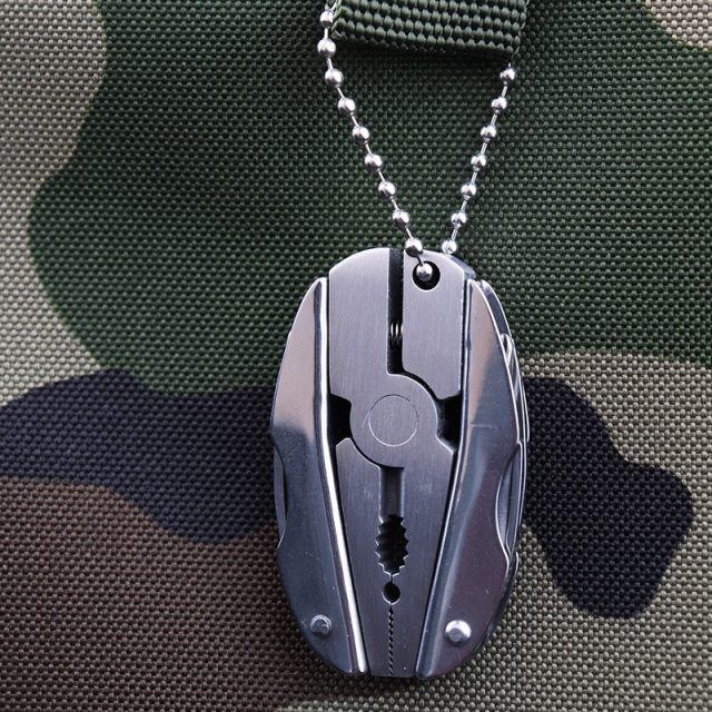 Portable Multifunction Folding Keychain Plier