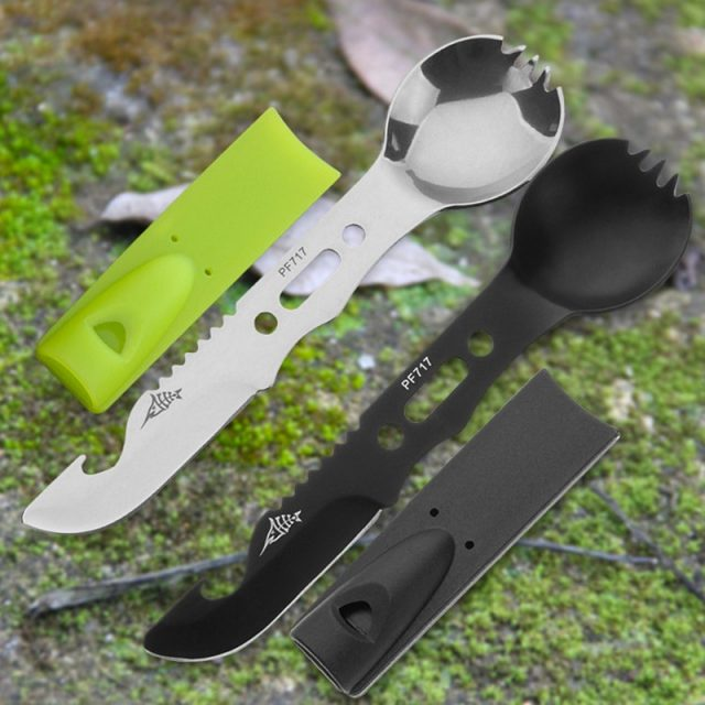 Multifunctional Camping Cookware Durable Stainless Steel Survival kit