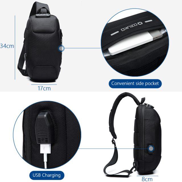 Multifunction Anti-theft Shoulder Messenger Crossbody Bag