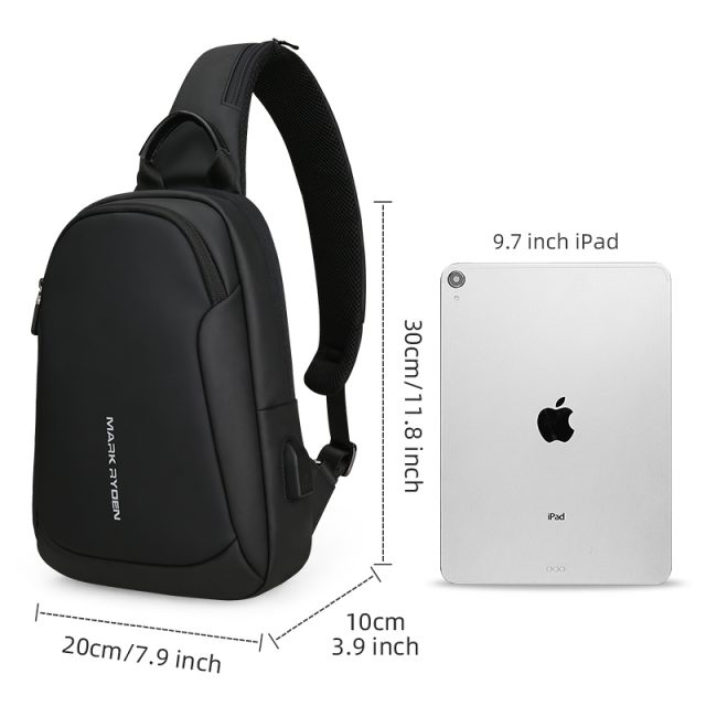 Multifunction Crossbody Waterproof Bags with USB Charging