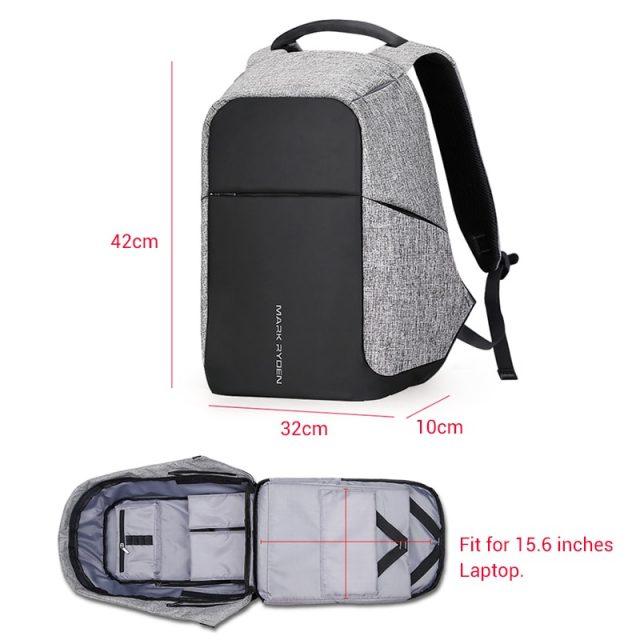 Multifunction USB charging 15 inch Laptop Backpacks