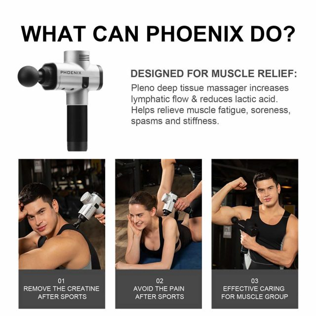 Phoenix A2 Personal Percussion Therapy Massage Gun for Muscle Recovery