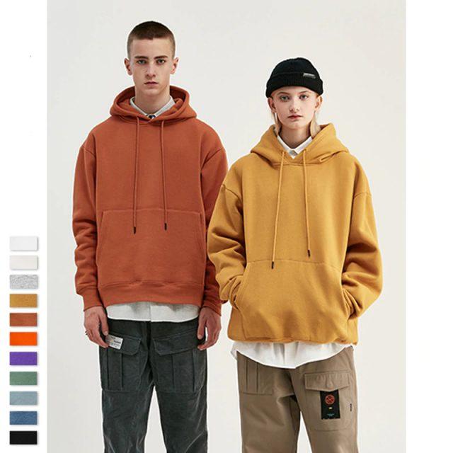 Autumn Mens Thick Fleece Hip Hop Hoodies