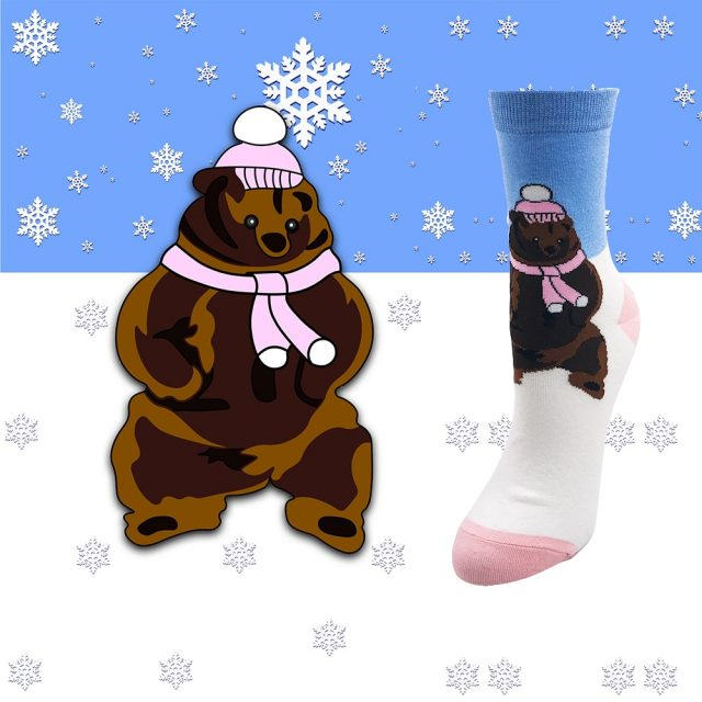 Fashionable Cozy Fuzzy Slipper Crew Socks for Women
