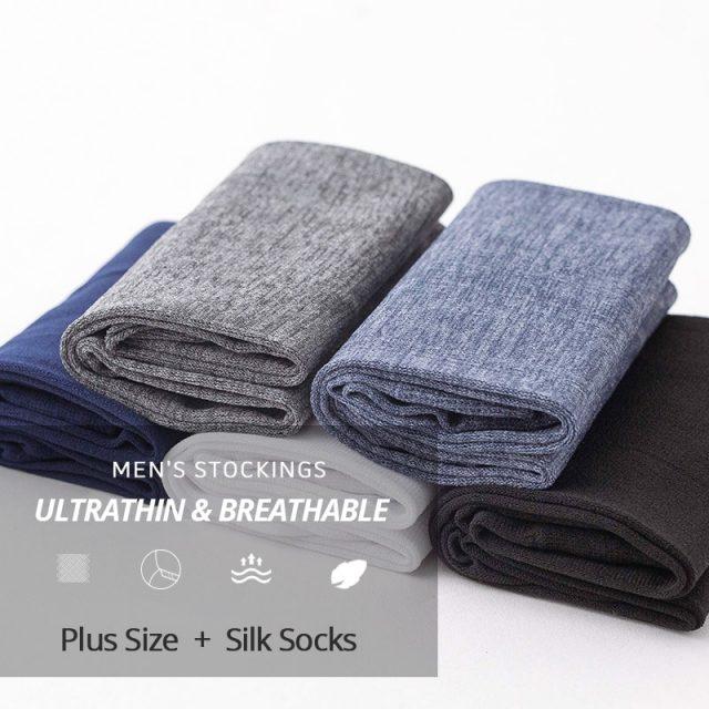 Business Casual Men Silk Socks 20 Pairs