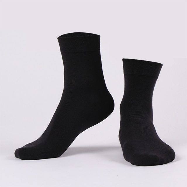 Men's Black Business Cotton Socks 10 Pairs