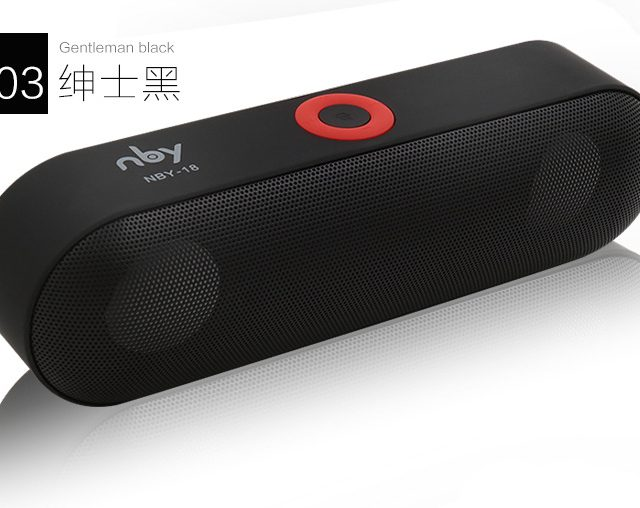 NBY-18 Mini Bluetooth Speaker with 3D Stereo Music Surround Support Bluetooth,TF AUX USB