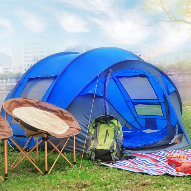 6 Person Easy Pop Up Tent-Automatic Setup, Double Layer – Instant Family Tents for Camping,Hiking & Traveling