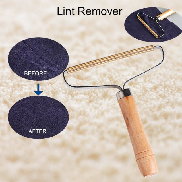 Portable Lint Remover – Clothes Fuzz Shaver – Reusable Double Sided Lint Remover Travel Brush for Removing Lint Dust in Clothes and Furniture