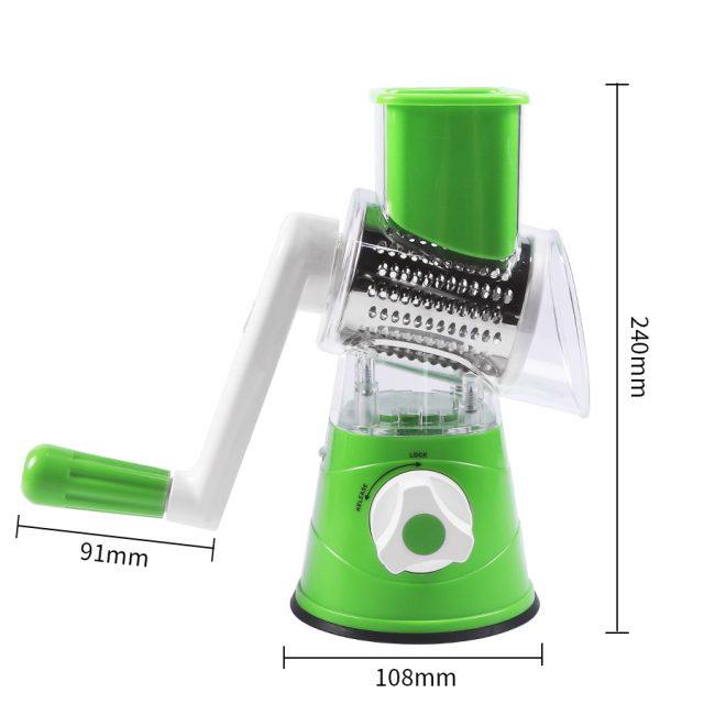Manual Vegetable Slicer Nut Grinder with Vegetable Peeler and Cleaning Brush