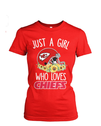 Just a Girl Kansas City Chiefs Woman T Shirt