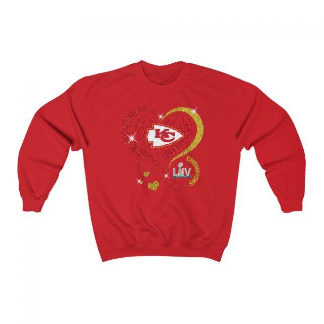 Love Kansas City Chiefs Unisex Heavy Blend™ Crewneck Sweatshirt