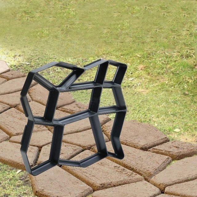 36x36cm Path Maker Mold Reusable Home Garden Floor Road Diy Pavement Black Mold Concrete Cement Stone Design Paver Walk Mould