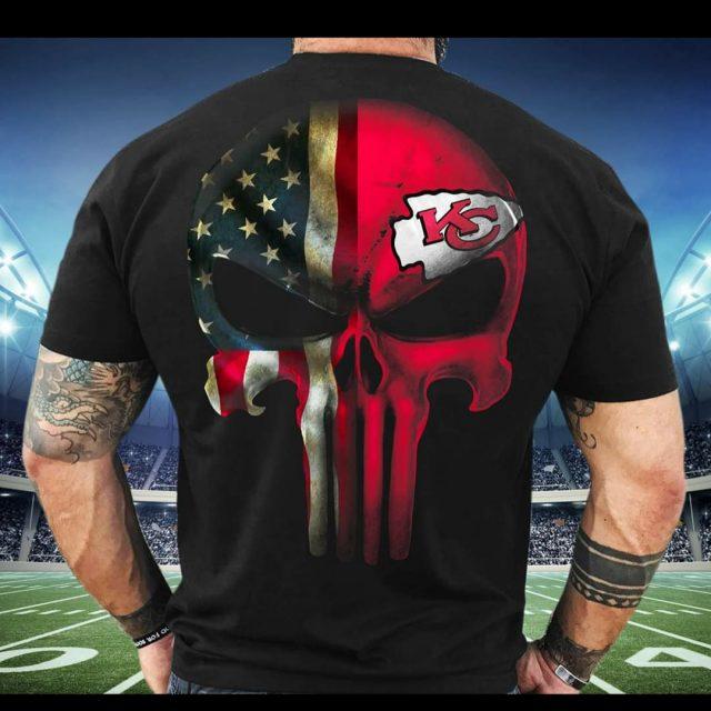 Punisher Kansas City Chiefs Men T Shirt